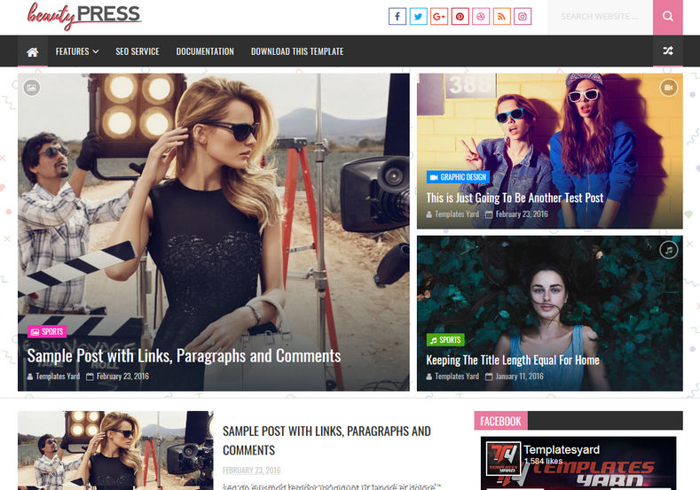 Beauty Press Blogger Template is an stylish fashion oriented blogspot theme, specially for makeup and personal bloggers