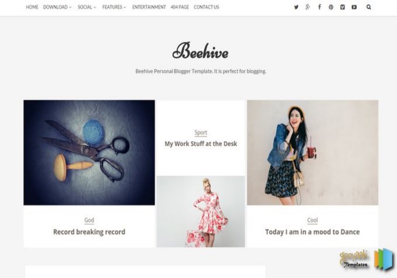 Beehive Blogger Template. Free download blogger template for your blogger blog. Beehive Blogger Template.