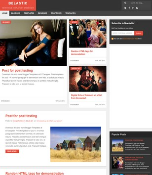 Belastic Responsive Blogger Templates