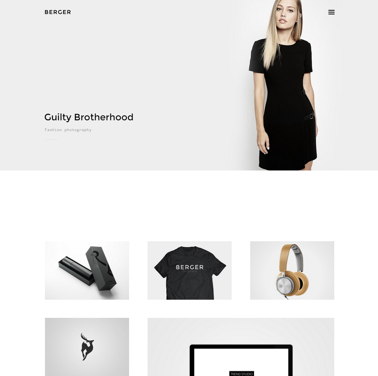Berger Creative Agency Portfolio Theme