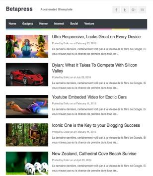 Betapress Blogger Templates