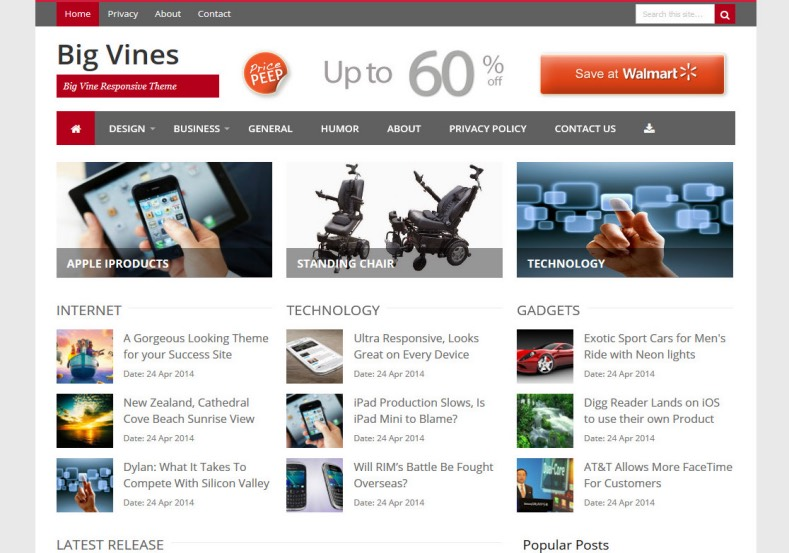 Big Vines Blogger Template. Blogger Themes. Free Blogspot templates for your blogger blog. Best suitable for news blog templates. Best Ads ready blogspot templates help for add adsense ad code and easily showing adsence ads in your blog. Adapted from WordPress templates are converted from WordPress themes. It is help for take your rich. Blogger magazine template specially designed for magazine blogs. The writers can utilize this themes for take blog attractive to users. Elegant themes are more used themes in most of the blogs. Use minimalist blog templates for rich look for your blog. Free premium blogger themes means, themes authors release two types of themes. One is premium another one is free. Premium templates given for cost but free themes given for no cost. You no need pay From California, USA. $10 USD, or $20 USD and more. But premium buyers get more facilities from authors But free buyers. If you run game or other animation oriented blogs, and you can try with Anime blog templates. Today the world is fashion world. So girls involve to the criteria for make their life fashionable. So we provide fashion blogger themes for make your fashionable. News is most important concept of the world. Download news blogger templates for publishing online news. You can make your blog as online shopping store. Get Online shopping store blogger template to sell your product. Navigation is most important to users find correct place. Download drop down menu, page navigation menu, breadcrumb navigation menu and vertical dropdown menu blogspot themes for free. Google Guide to blogging tips and tricks for bloggers. Google bloggers can get blogspot trick and tips for bloggers. Blog templates portfolio professional blogspot themes, You can store your life moments with your blogs with personal pages templates. Video and movie blogs owners get amazing movie blog themes for their blogs. Business templates download. We publish blogger themes for photographers. Photographers easily share photos via photography blog themes. St valentine Christmas Halloween templates. Download Slideshow slider templates for free. Under construction coming soon custom blogspot template. Best beautiful high quality Custom layouts Blog templates from templateism, soratemplates, templatetrackers, simple, cute free premium professional unique designs blog themes blogspot themes. Seo ready portfolio anime fashion movie movies health custom layouts best download blogspot themes simple cute free premium professional unique designs xml html code html5. Big Vines Blogger Template
