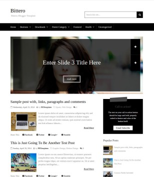 Bittero Blogger Templates