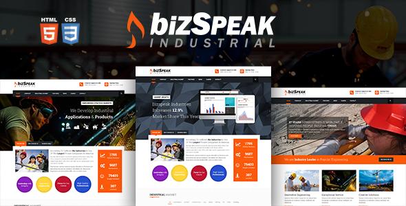 BizSpeak - Responsive Industrial HTML5 Template