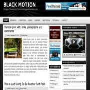 Black Motion Blogger Templates
