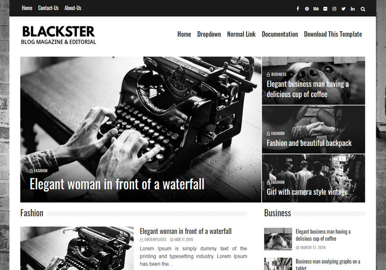 Blackster Blogger Template is a stylish and elegant looking heavily customized latest responsive blogging blogger theme with many advanced seo features and new awesome look