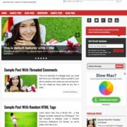 Blog One Blogger Templates