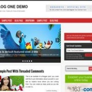 Blog One blogger template