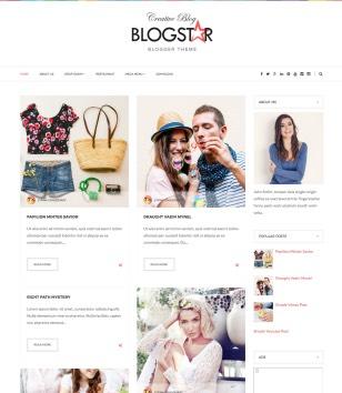 Blog star Blogger Template