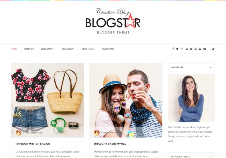 Blog star Blogger Template. Blog star Blogger Template 2015 free download