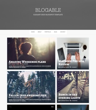 Blogable Blogger Template