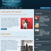 BloggIt Blogger Templates