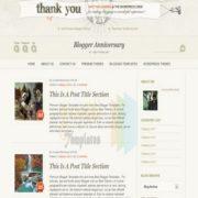 Blogger Anniversary Blogger Templates