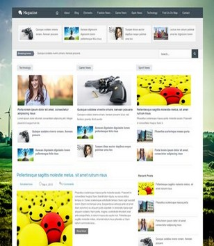 Blogger Magazine Blogger Templates