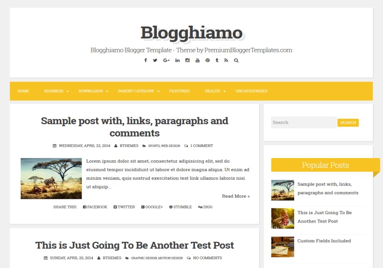 Blogghiamo Blogger Template. Blogger Themes. Best suitable for news blog templates. Ads ready blogspot templates help for add adsense ad code and easily showing adsence ads in your blog. Adapted from WordPress templates are converted from WordPress themes. It is help for take your rich. Blogger magazine template specially designed for magazine blogs. The writers can utilize this themes for take blog attractive to users. Elegant themes are more used themes in most of the blogs. Minimalist blog templates. Free premium blogger themes means, themes authors release two types of themes. One is premium another one is free. Premium templates given for cost but free themes given for no cost. You no need pay From California, USA. $10 USD, or $20 USD and more. But premium buyers get more facilities from authors But free buyers. If you run game or other animation oriented blogs, and you can try with Anime blog templates. Today the world is fashion world. So girls involve to the criteria for make their life fashionable. So we provide fashion blogger themes for make your fashionable. News is most important concept of the world. Download news blogger templates for publishing online news. You can make your blog as online shopping store. Get Online shopping store blogger template to sell your product. Navigation is most important to users find correct place. Download drop down menu, page navigation menu, breadcrumb navigation menu and vertical dropdown menu blogspot themes for free. Google Guide. Blogging tips and Tricks for bloggers. Google bloggers can get blogspot trick and tips for bloggers. Blog templates portfolio professional blogspot themes, You can store your life moments with your blogs with personal pages templates. Video and movie blogs owners get amazing movie blog themes for their blogs. Business templates download. We publish blogger themes for photographers. Photographers easily share photos via photography blog themes. St valentine Christmas Halloween templates. Download Slideshow slider templates for free. Under construction coming soon custom blogspot template. Best beautiful high quality Custom layouts Blog templates from templateism, SoraTemplates, templatetrackers, simple, cute free premium professional unique designs blog themes blogspot themes. Seo ready portfolio anime fashion movie movies health custom layouts best download blogspot themes simple cute free premium professional unique designs xml html code html5.
