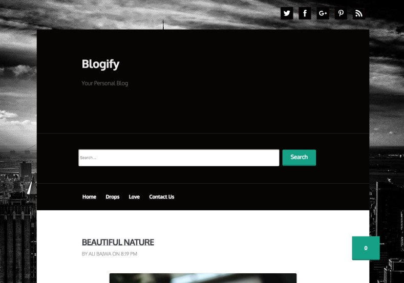 Blogify Blogger Template premium blogger templates