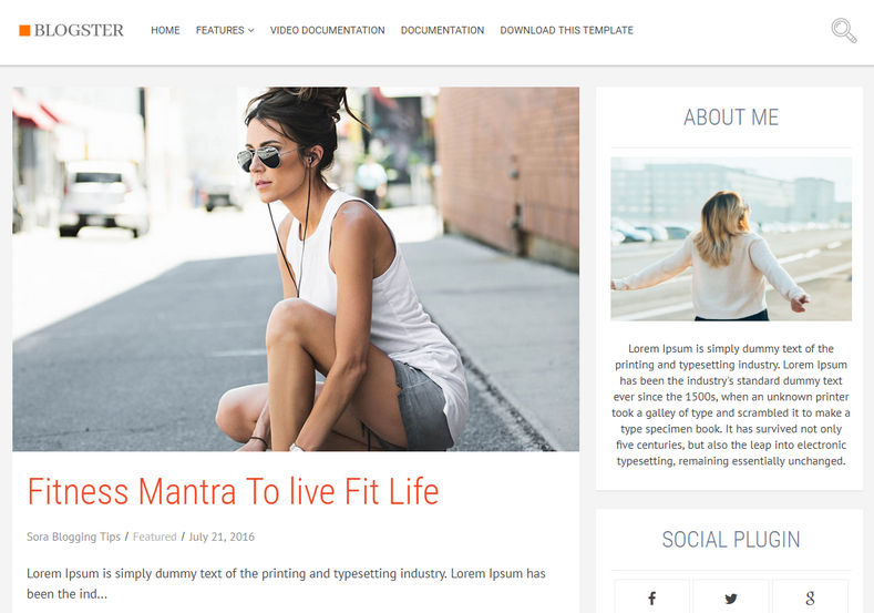 Blogster Blogger Template is a very simple and very stylish and elegant looking blogspot theme with classy design, loaded with full width large post thumbnails