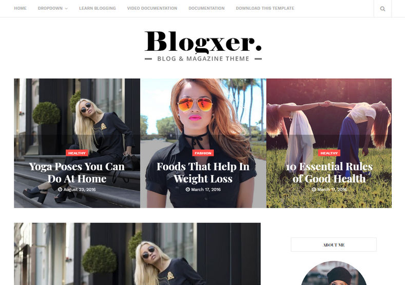 Blogxer Blogger Template is one of the best fashion and elegantly responsive design which is very stylish looking and fast loading blogspot theme.
