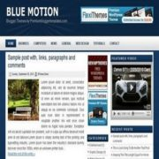 Blue Motion Blogger Templates