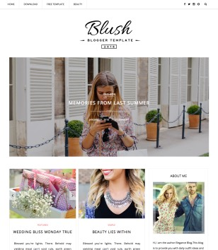 Blush Multipurpose Blogger Templates