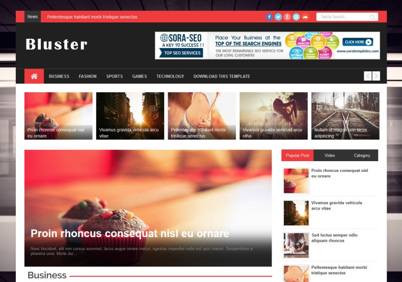Bluster Responsive Blogger Template 2014 Free Blogger Templates