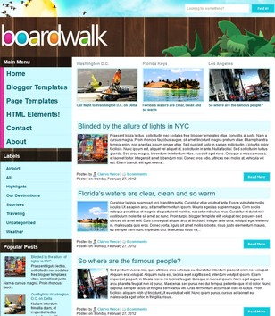 Boardwalk Blogger Templates