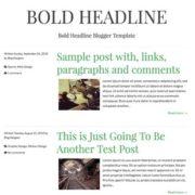 Bold Headline Responsive Blogger Templates