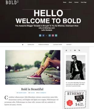 bold modern parallax blogger template blogspot templates 2018