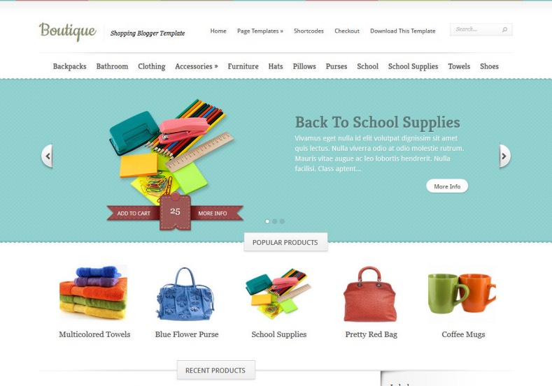 Boutique Blogger Template 2014 Free Download