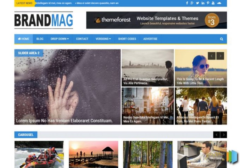 Brand Mag Blogger Template. Blogger Themes. Free Blogspot templates for your blogger blog. Best suitable for news blog templates. Best Ads ready blogspot templates help for add adsense ad code and easily showing adsence ads in your blog. Adapted from WordPress templates are converted from WordPress themes. It is help for take your rich. Blogger magazine template specially designed for magazine blogs. The writers can utilize this themes for take blog attractive to users. Elegant themes are more used themes in most of the blogs. Use minimalist blog templates for rich look for your blog. Free premium blogger themes means, themes authors release two types of themes. One is premium another one is free. Premium templates given for cost but free themes given for no cost. You no need pay From California, USA. $10 USD, or $20 USD and more. But premium buyers get more facilities from authors But free buyers. If you run game or other animation oriented blogs, and you can try with Anime blog templates. Today the world is fashion world. So girls involve to the criteria for make their life fashionable. So we provide fashion blogger themes for make your fashionable. News is most important concept of the world. Download news blogger templates for publishing online news. You can make your blog as online shopping store. Get Online shopping store blogger template to sell your product. Navigation is most important to users find correct place. Download drop down menu, page navigation menu, breadcrumb navigation menu and vertical dropdown menu blogspot themes for free. Google Guide to blogging tips and tricks for bloggers. Google bloggers can get blogspot trick and tips for bloggers. Blog templates portfolio professional blogspot themes, You can store your life moments with your blogs with personal pages templates. Video and movie blogs owners get amazing movie blog themes for their blogs. Business templates download. We publish blogger themes for photographers. Photographers easily share photos via photography blog themes. St valentine Christmas Halloween templates. Download Slideshow slider templates for free. Under construction coming soon custom blogspot template. Best beautiful high quality Custom layouts Blog templates from templateism, SoraTemplates, templatetrackers, simple, cute free premium professional unique designs blog themes blogspot themes. Seo ready portfolio anime fashion movie movies health custom layouts best download blogspot themes simple cute free premium professional unique designs xml html code html5. Brand Mag Blogger Template.