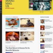 Brand Mag UX Responsive Blogger Templates