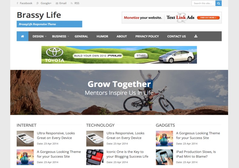 Brassy life Blogger Template. Brassy life Blogger Template 2015 free download