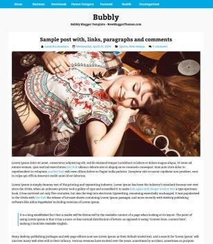 Bubbly Blogger Templates