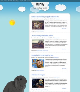 Bunny Animetted Blogger Templates