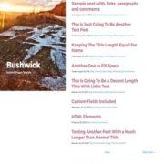 Bushwick Responsive Blogger Templates