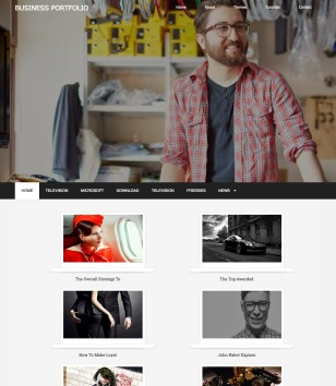 Business Portfolio Blogger Templates