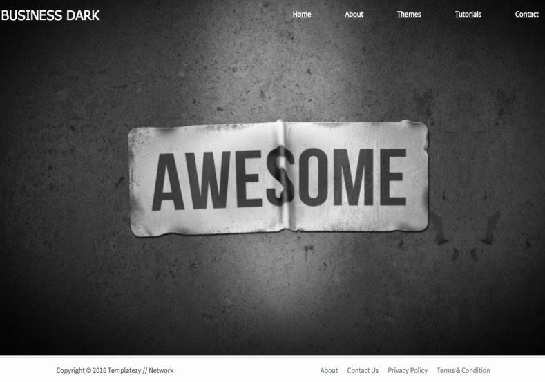 Business Portfolio Dark Blogger Template Free - Photography privacy policy template