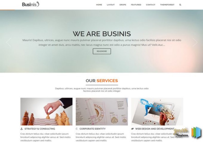Businis Blogger Template