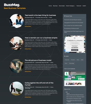 BuzzMag Blogger Templates