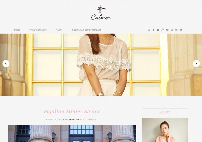 Calmer Fashion Blogger Template