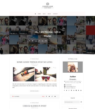 Camera Man Blogger Templates
