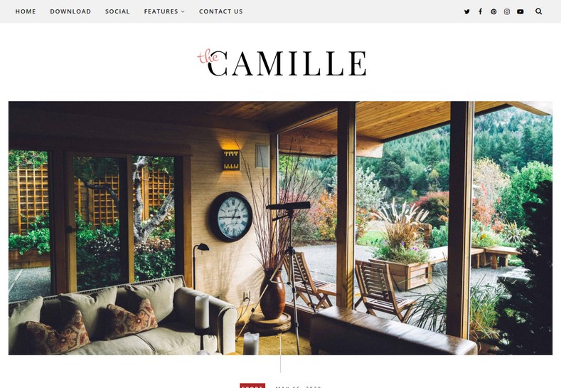 Camille Blogger Template is a Personal Blogger theme that is suitable for a creative, elegant and trendy personal bloggers