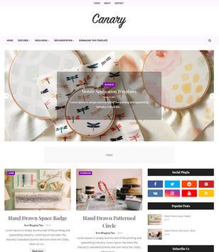 Canary Blogger Templates