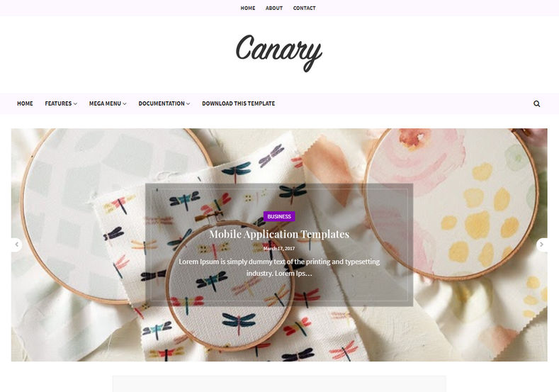 Canary Blogger Template is a beautifully designed minimal looking fast loading blogspot theme, which is perfect for fashion and beauty blogs.