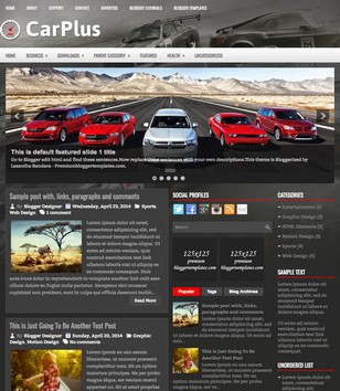 CarPlus Blogger Templates