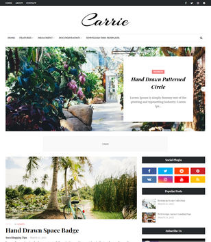 Carrie Blogger Templates