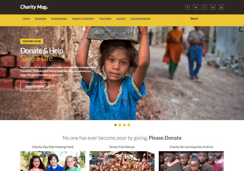 charity mag blogger template blogspot templates 2018