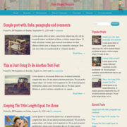 Cheer Responsive Blogger Templates