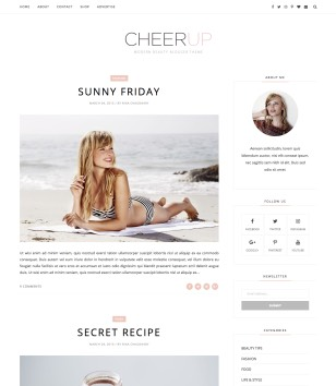 Cheerup Clean Blogger Templates