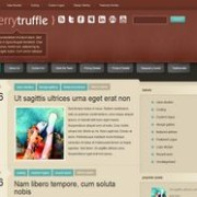 Cherry Truffle blogger template